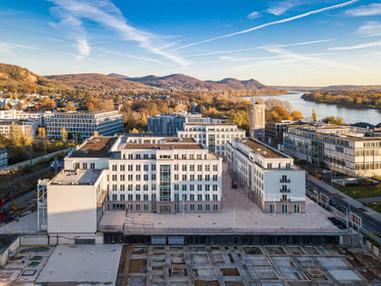 Blick über das exklusive Büroprojekt Rhein-Palais-Bonner-Bogen