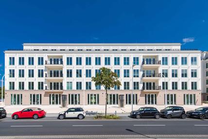 Blick auf Palais Clivia & Diadem vom Boulevard