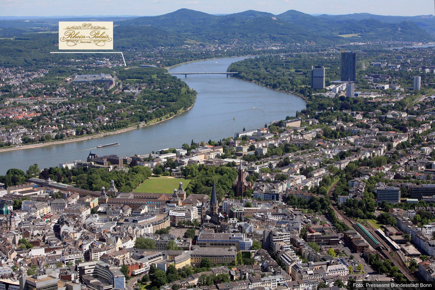 Die Bundestadt Bonn, der Rhein und das Siebengebirge