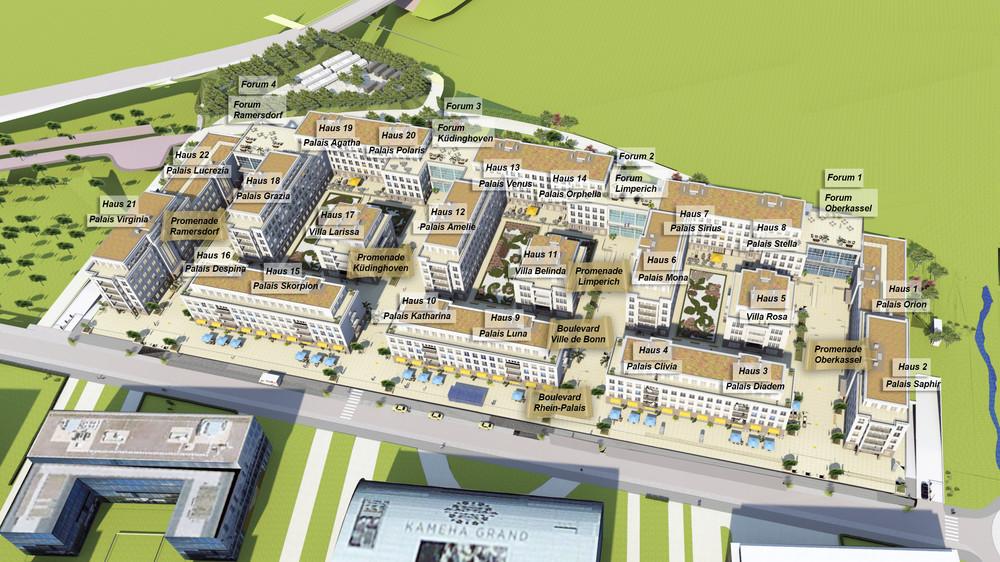Übersichtsplan aller Palais und Foren, Boulevards und Promenaden