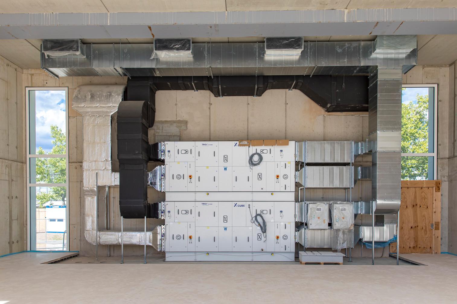 Die Klimaanlage im Bau