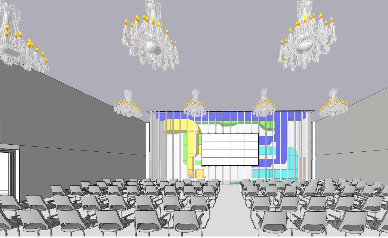 Das Forum Oberkassel im Erdgeschoss