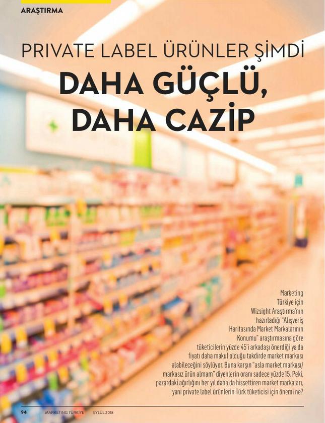 Private Label Araştırması 1. Sayfa