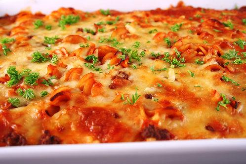 VEGAN Italian Meatball Pasta Bake