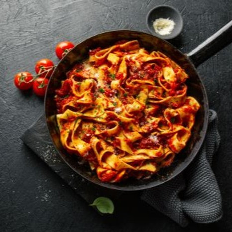 Red Sauce Pasta Options in Freezable Containers