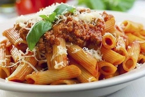 Penne Bolognese serves 10