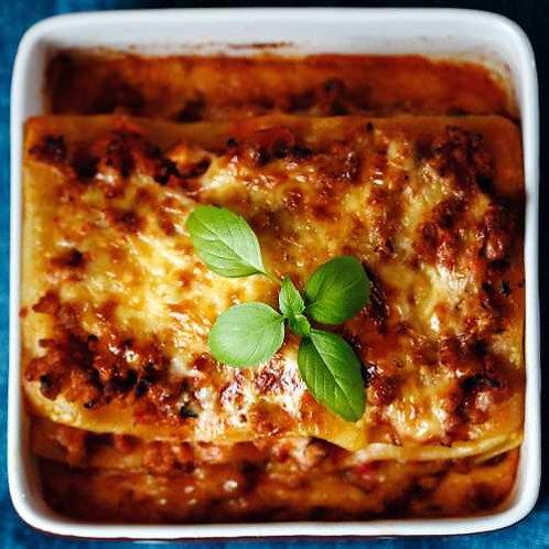 House made Beef lasagna serves 10