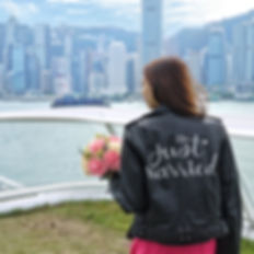 Hong Kong Calligrapher, Ashley Ching, WRITEYEAH, #TheJustMarriedJacketHK