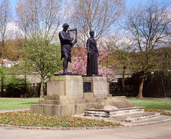 Evan and James James memorial colour shot
