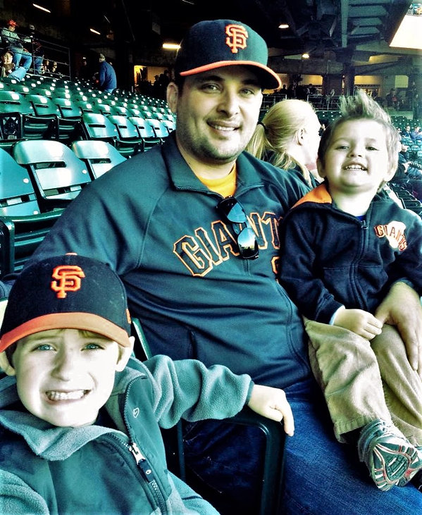 Brandon and Boys - Giants Game - May 21