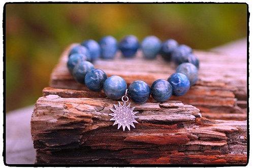 AAA Kyanite and Diamond Starburst Bracelet