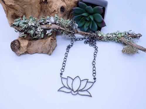 Diamond Lotus Necklace