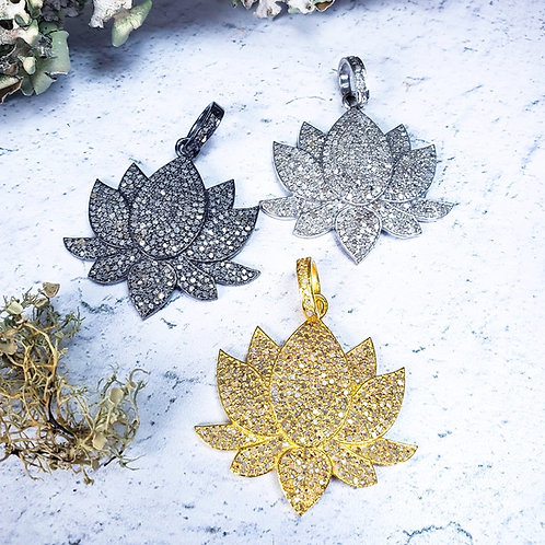 Diamond Lotus Pendants