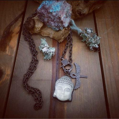 Inner Peace Crystal Buddha Pendant