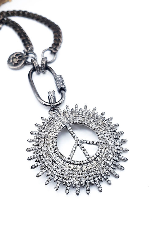 Peace Starburst Diamond Pendant