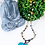 Boho Amazonite and Diamond Chain