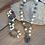White Turquoise/Pyrite Diamond Clasp Chain