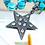 Thumbnail: Aquamarine and Diamond Sterling Silver Pendant
