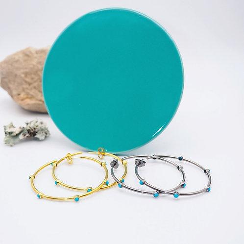 Turquoise Earring Hoop Choice