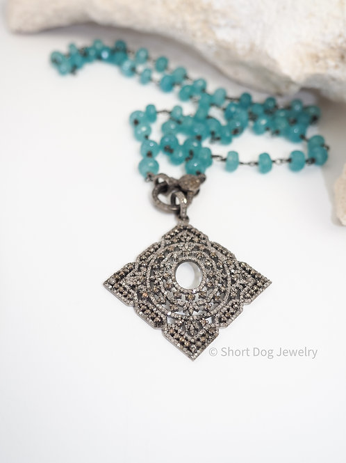 Art-Deco Diamond Pendant