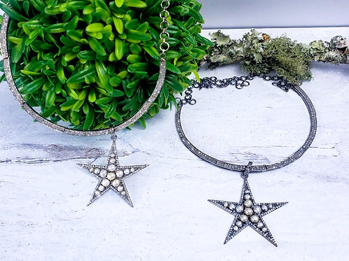 She of The Stars ..... Diamond and Pearl Star Pendant Choice