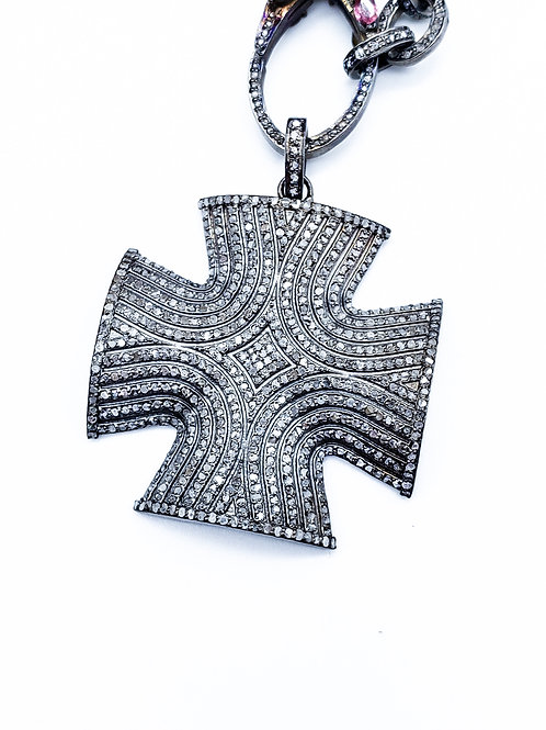Diamond 3D Cross Pendant