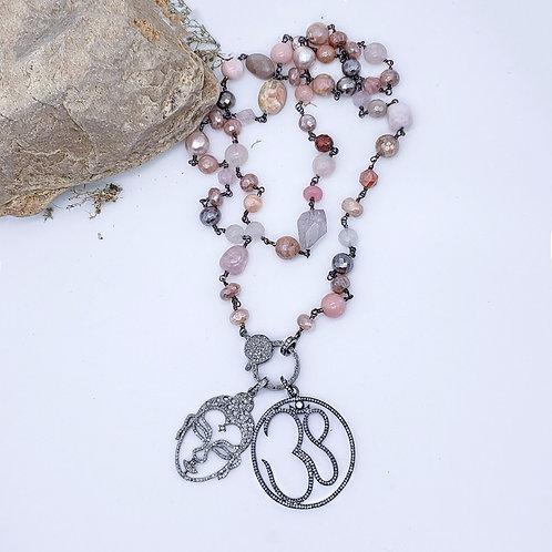 Diamond Buddha Pendant AND/OR Multi-Pink Gemstone and Diamond Chain