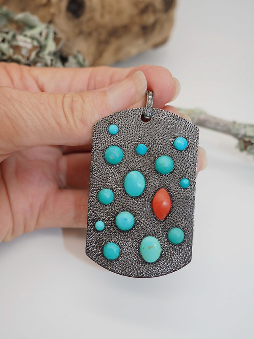 Turquoise and Coral CELEBRATION Tag - Reserved For Susan