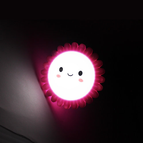 Luz de noche, figura flor