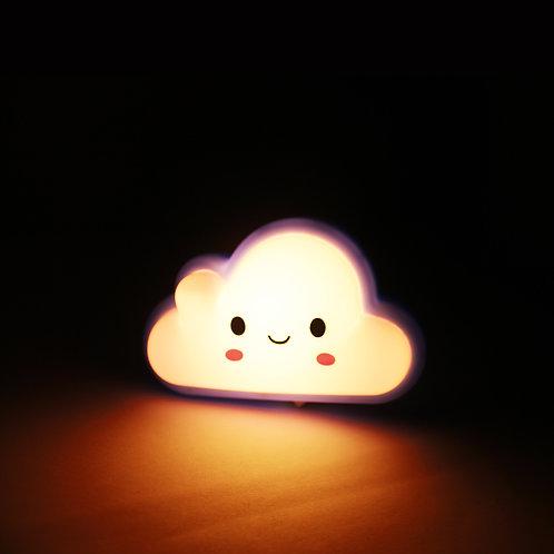 Luz de noche, figura nube