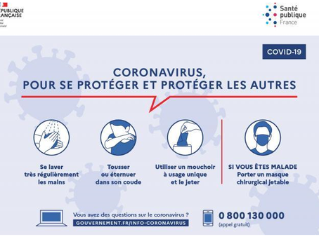 Coronavirus (Covid-19) : Recommandations au grand public