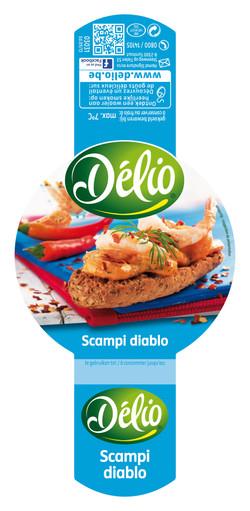 Scampi diablo salad, food photograph