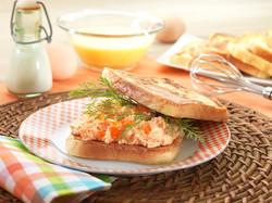 salmon salad, food photography