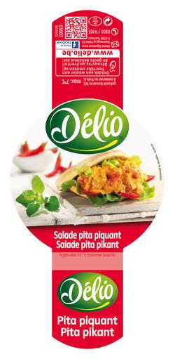 Spicy Pita salad, food photography