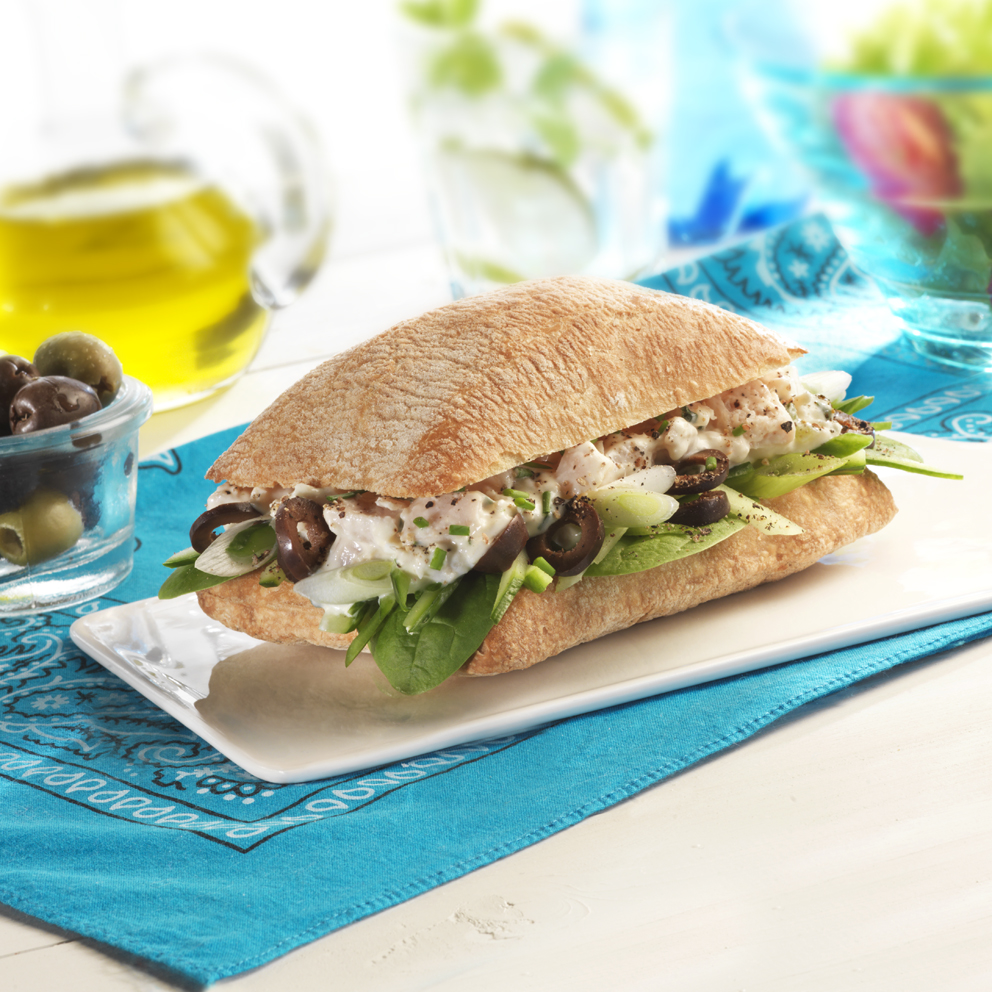 greek chicken salad, food photograph