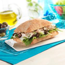 greek chicken salad, food photograph