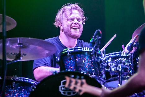 Jon Hartman smashes the drum kit!