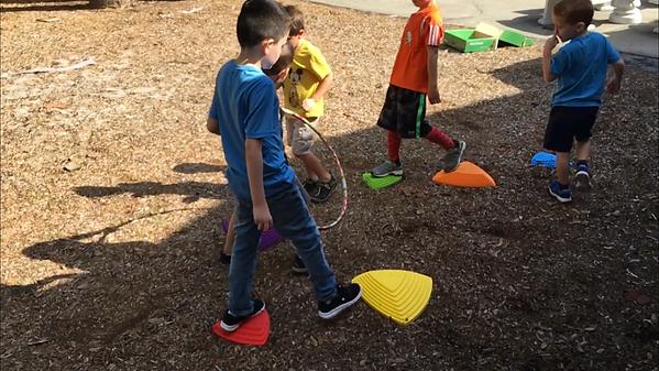 working on playground skills