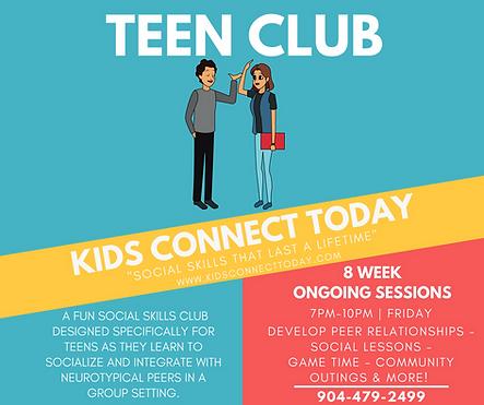 Social Skills Group Classes - Teen Club
