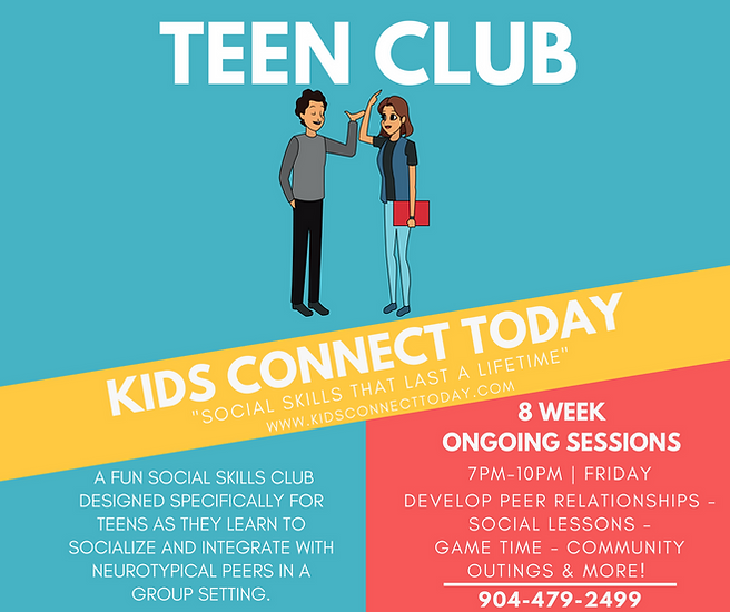 social skills club for teens
