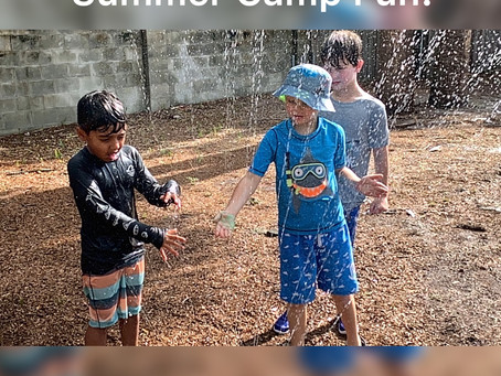 SUMMER CAMP FUN IS ON!