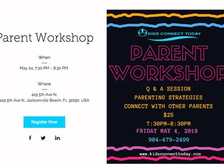 May 4 Parent Workshop