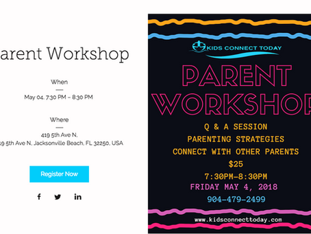 May 4 Parent Workshop