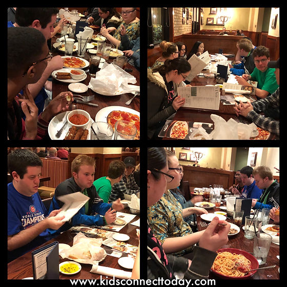 community outing at Carrabba's Italian Restaurant