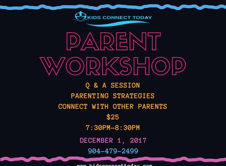 Upcoming Parent Workshop