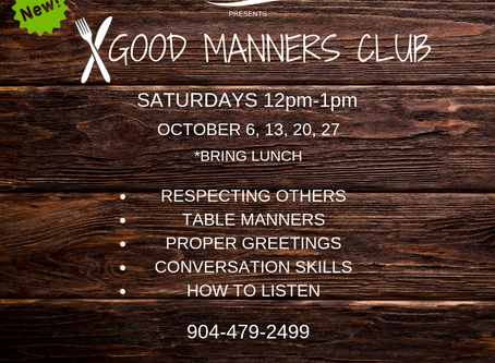 NEW CLASS: GOOD MANNERS CLUB