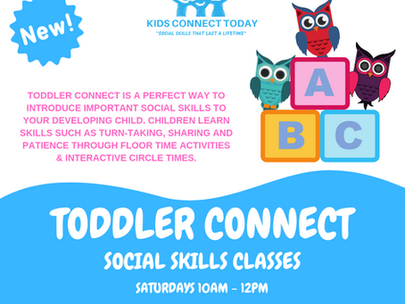 New Social Skills Class: Toddler Connect