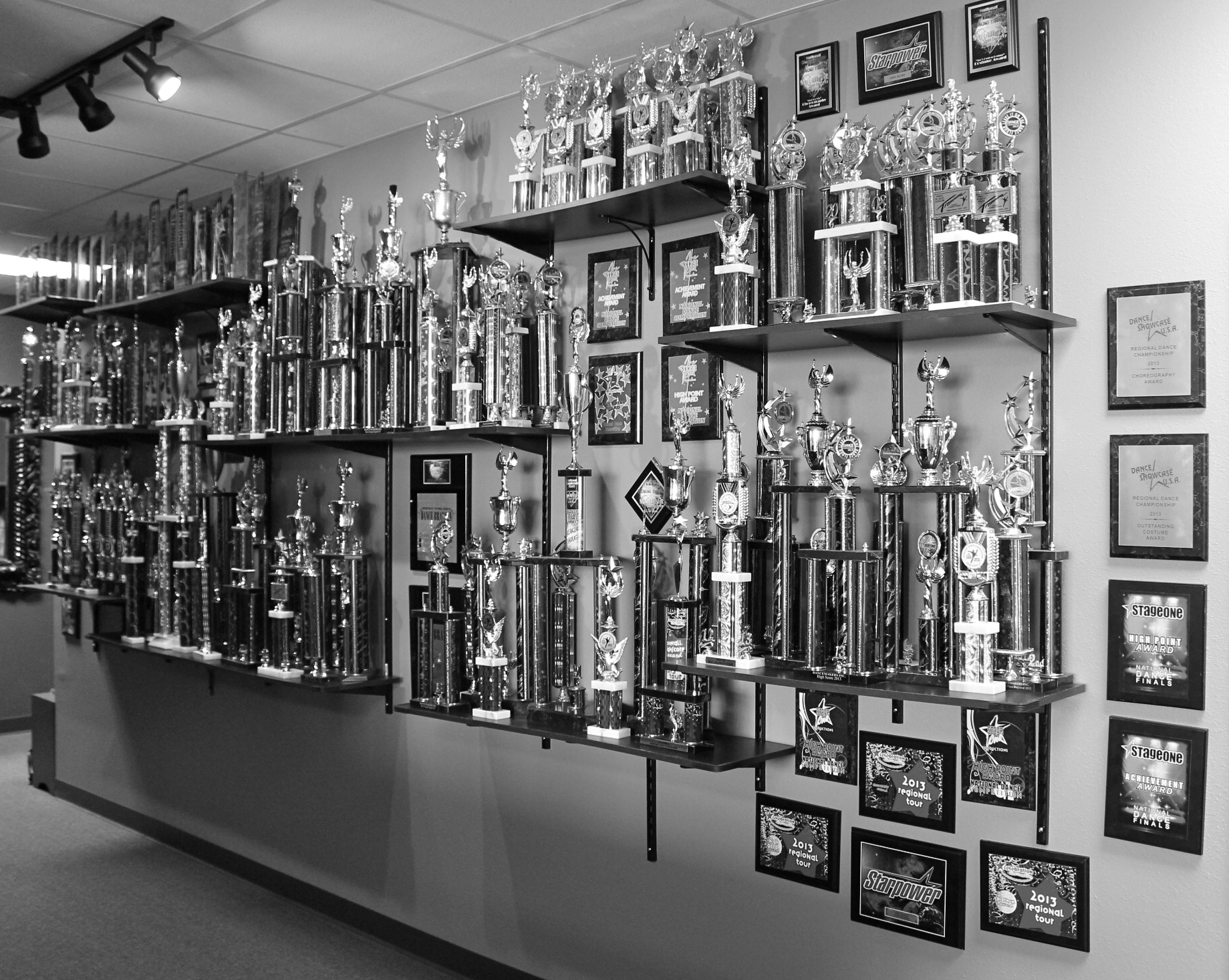 Dance Team Trophy Wall
