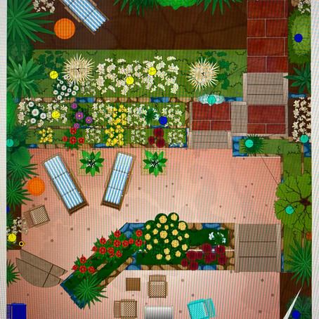 Cozy social distancing garden.