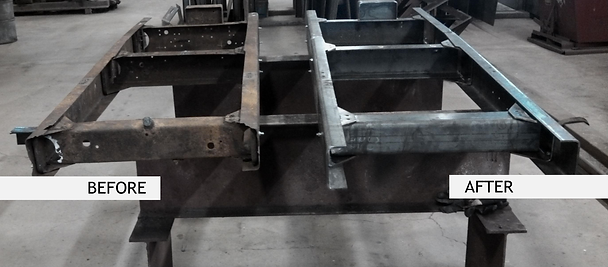 Truck frame Assembly Before & After